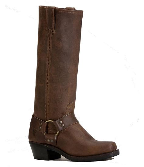 frye harness 15r leather brass carness pull on boots