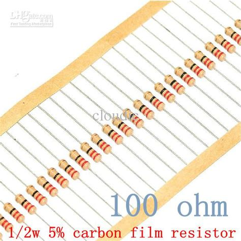 color code for 100 ohm resistor free shipping 1 2w 100 ohm 100r 5 resistor 1 2w 100 ohm carbon resistor 0 5w color ring