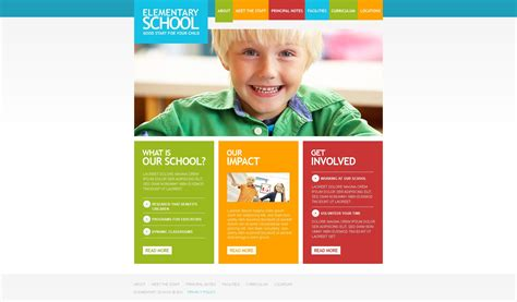 primary school website template 33353