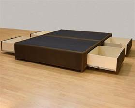 platform bed with storage drawers uphostered storage