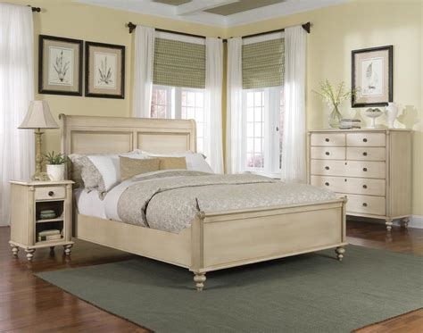 cream bedroom set durham furniture savile row 4 piece sleigh bedroom set w