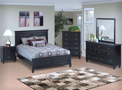 the bedroom shop tamarack bedroom set black finish panel bed