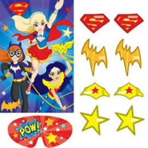 dc super hero girls party game kids themed party supplies character parties australia