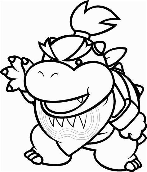 coloring page bowser bowser jr coloring pages coloring pages pinterest bowser