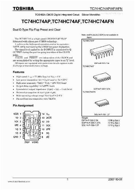 how to read integrated circuit datasheet 74hc74ap 1972923 pdf datasheet ic on line
