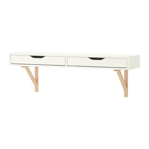 ekby alex ekby valter shelf with drawer white birch ikea