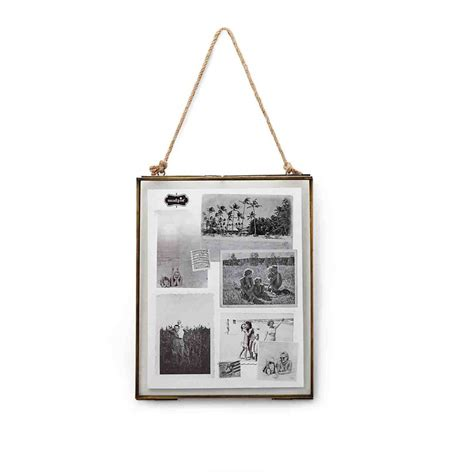 how to hang a picture frame hanging glass frame 8 quot x 10 quot mud pie