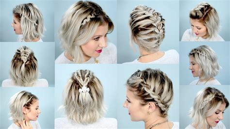 cute hairstyles braids short hair 10 easy braids for short hair tutorial milabu youtube