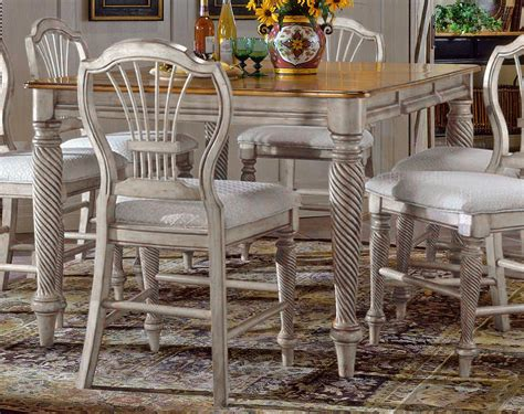 Antique White Dining Room Furniture Hillsdale Wilshire Counter Height Gathering Table Antique White 4508 818