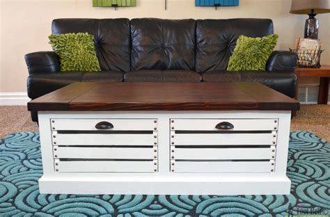 diy coffee table with storage storage coffee table and stools bigdiyideas