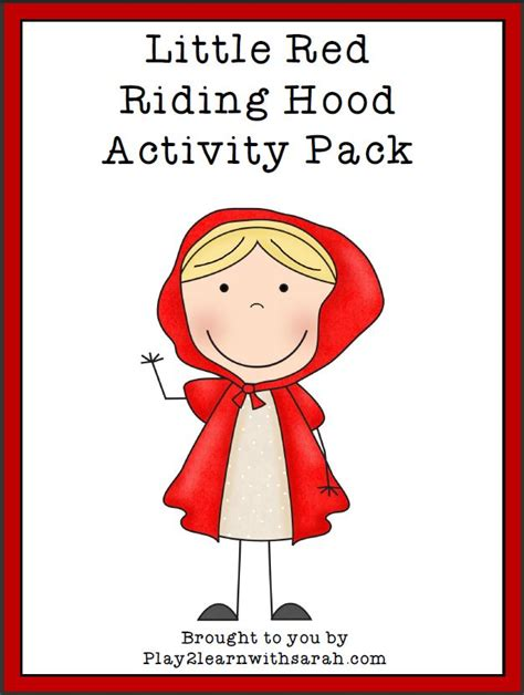 Printable Version Of Little Red Riding Hood | little red riding hood printables and crafts