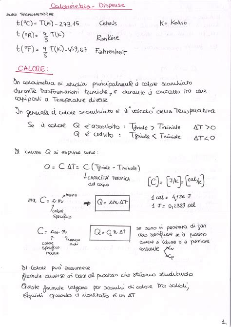 fisica 1 dispense fisica 1 calorimetria dispensa la matepratica