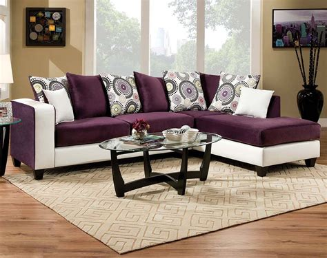 implosion sofa loveseat striking two toned chaise implosion purple 2 pc
