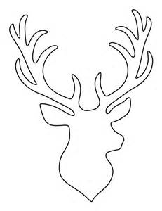 Deer Template by Stag Pattern Use The Printable Outline For Crafts