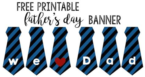 printable children s day banner father s day banner free printable paper trail design