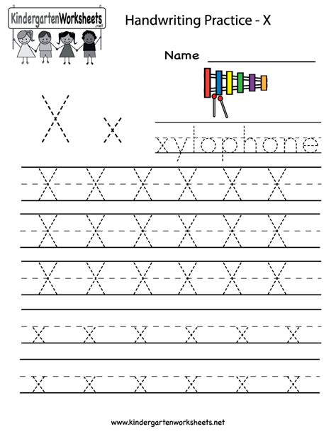 Printable X Worksheets | kindergarten letter x writing practice worksheet printable