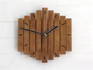 wooden clocks wood wall clock romb i wooden clock geometric clock by paladim