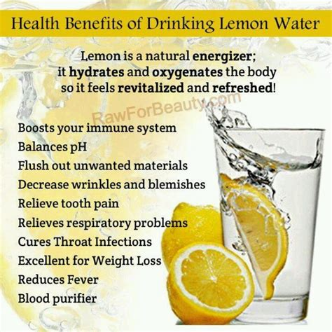 Warm Lemon Water Detox Benefits by Health Benefits Of Lemon Water Health