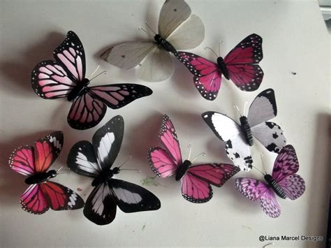 Butterflies With Paper - wall butterflies from paper and clay