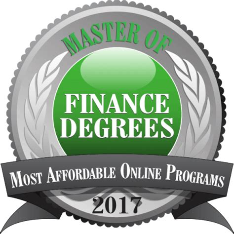 Most Affordable Mba Programs 2017 by Master Of Finance Degrees Most Affordable