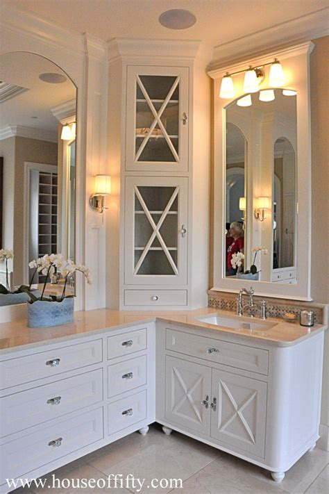 corner cabinets for bathrooms 13 best l shaped double vanity bathroom inspiration images