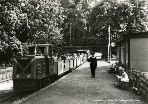 haus der jungen forscher eisenbahn postkarten museum park pionierreisenbahnen