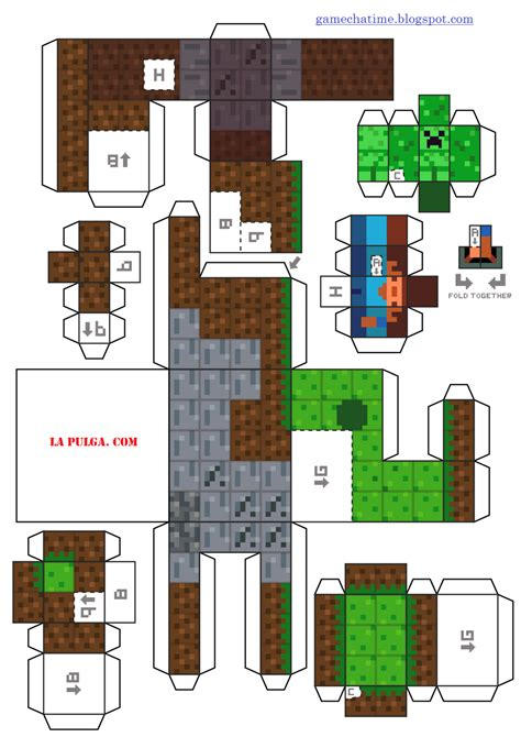 Minecraft Papercraft New - paper craft new 700 papercraft minecraft juego