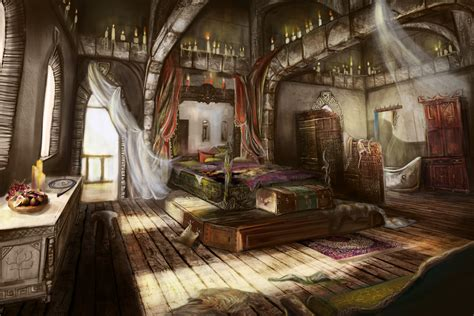 fantasy bedroom meg owenson concept artist illustrator