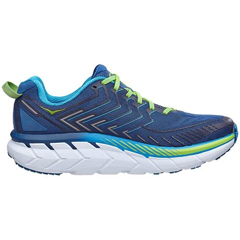 running shoe fitting clifton 4 mens wide fitting road running shoes true blue
