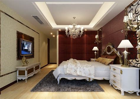 european fashion style hotel bedroom interior design 3d