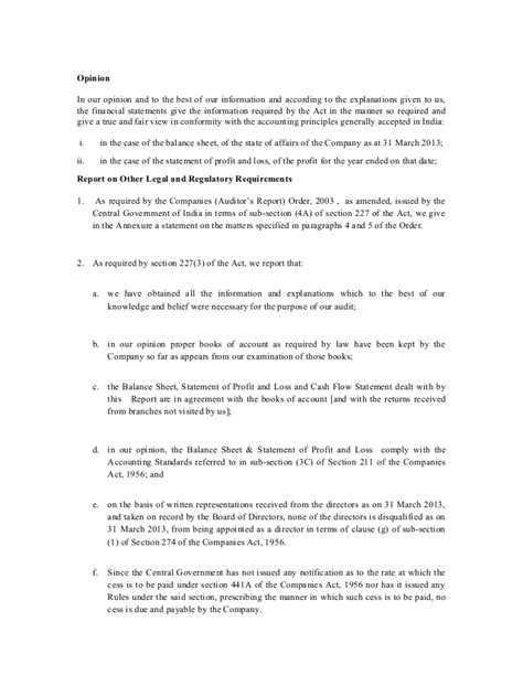 Independent Essay Outline by Sle Independent Auditors Report