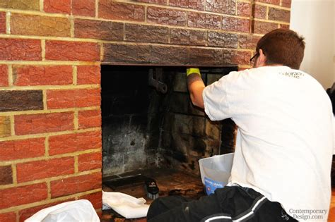 Cleaning Inside Of Fireplace by Brick Fireplace Makeover