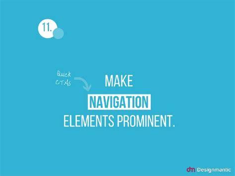 sites like designmantic 11 make navigation elements prominent