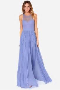 periwinkle color dress bariano dress periwinkle dress lace dress maxi