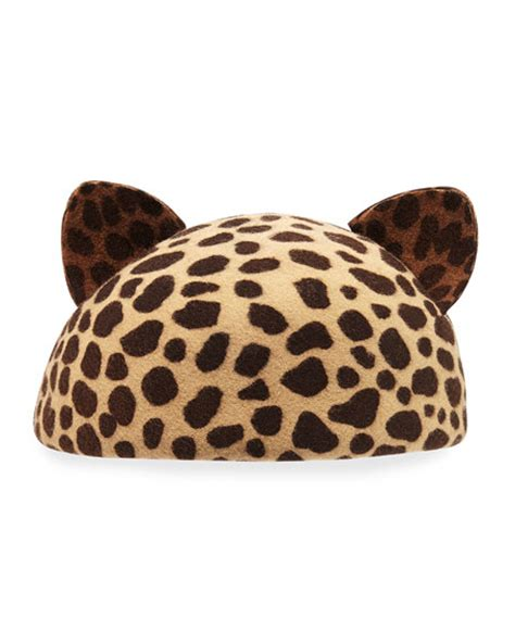 Cat Ear Beret eugenia caterina cat ear beret cap leopard