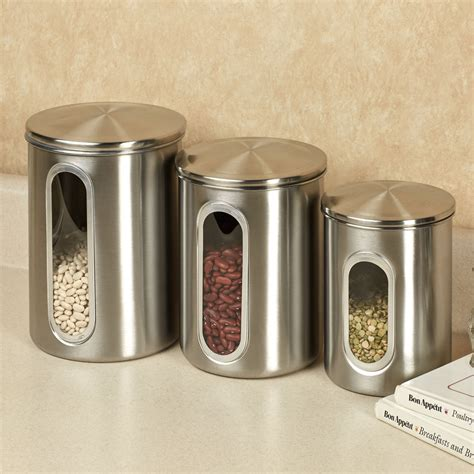 kitchen canister sets stainless steel stainless steel canisters kitchen kitchen ideas