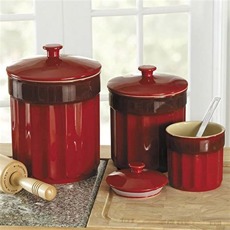 savannah red kitchen canister set red canister sets kitchen deep red canister sets for