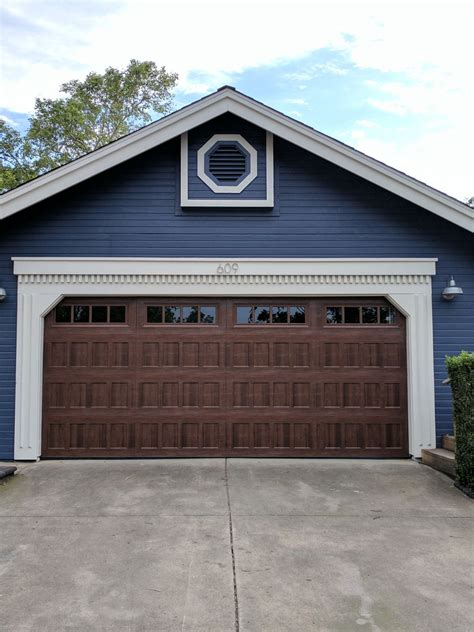 Summit Garage Door by Amarr Oak Summit 1000 Walnut Garage Door