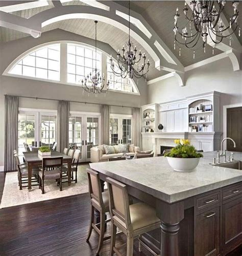Kitchen Family Room Layout Ideas 25 best ideas about vaulted ceiling kitchen on pinterest