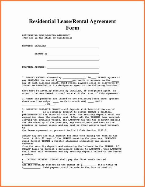 residential rental agreement 10 apartment rental agreement marital settlements