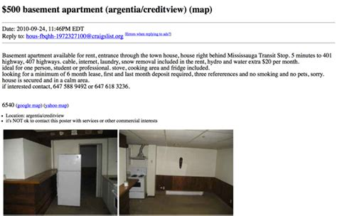Craigslist Apartments What 500 Or Less Gets You For An Apartment Rental On