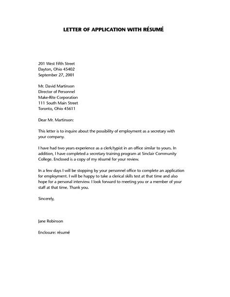 application letter for being resume application letter a letter of application is a