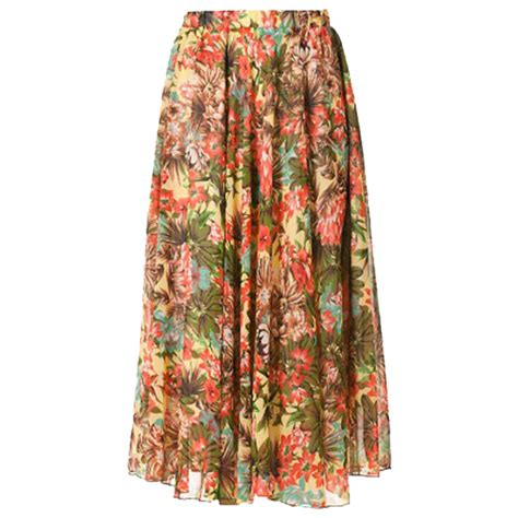 Floral Chiffon Skirt floral chiffon skirt with elastic waist elizabeth s