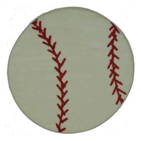 Baseball Area Rug Rugs Time Shape Fts 005 Baseball Area Rug Multicolor Rugs At Hayneedle