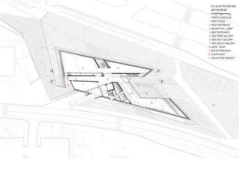 zaha hadid floor plan architecture photography eli edythe broad art museum