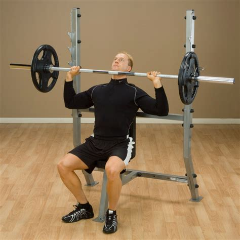 bench press for shoulders spb368g shoulder press olympic bench body solid fitness