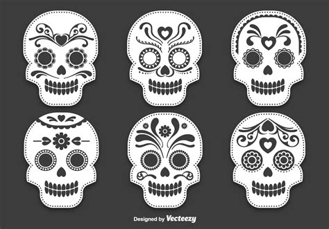 Day Of The Dead Skull Vector Day Of The Dead Skull Vectors Download Free Vector Art
