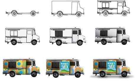 food truck design illustrator food truck illustration