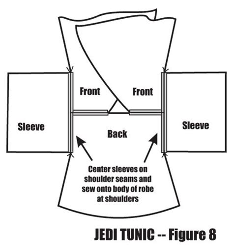 free pattern jedi cloak jedi robe jedi robe pattern and patterns on pinterest