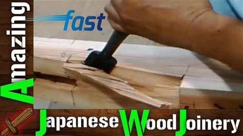 amazing japanese woodworking techniques fastest hand